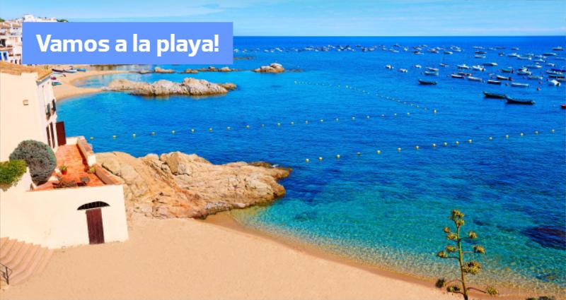 Vacante la plaja in Spania
