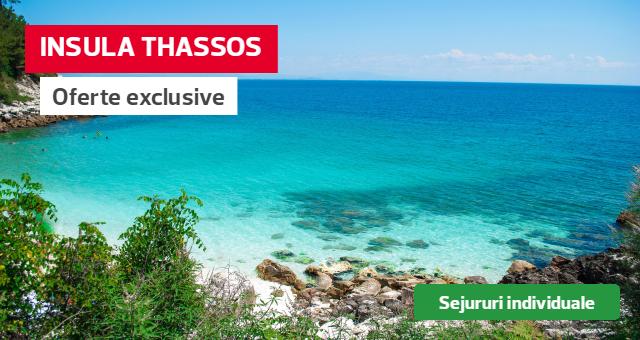 Insula Thassos: sejururi individuale cu decontare 30 euro/persoana pentru testul COVID!