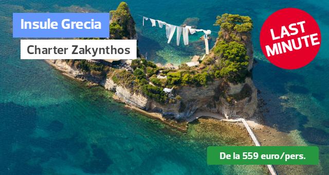 Charter Zakynthos - Oferte Last Minute: Plecari din Bucuresti 07 si 14.07!