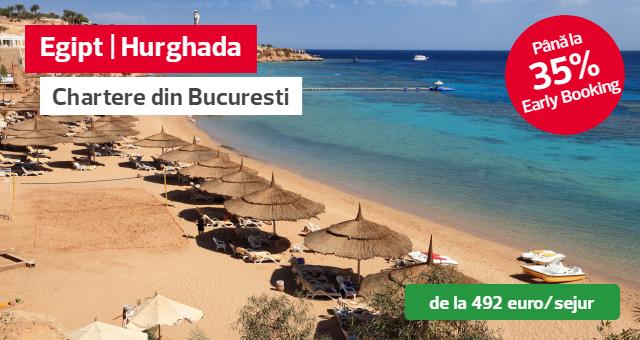 Egipt - Hurghada vacante insorite in noiembrie si decembrie cu zbor charter din Bucuresti