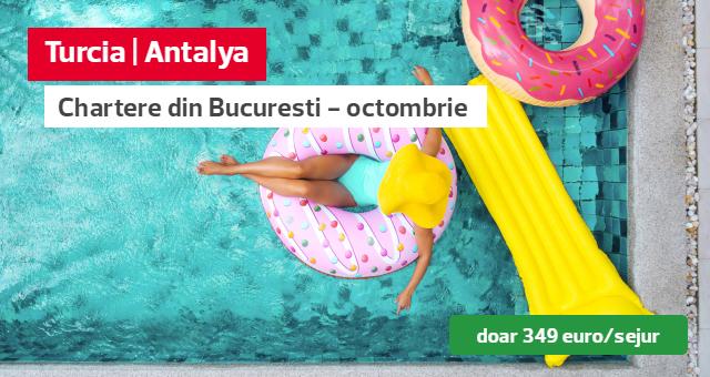 Vacante cu zbor charter in Antalya in octombrie