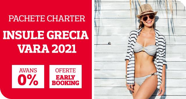 Chartere Insule Grecia - Sezonul 2021 Oferte Early Booking pana la -25%!