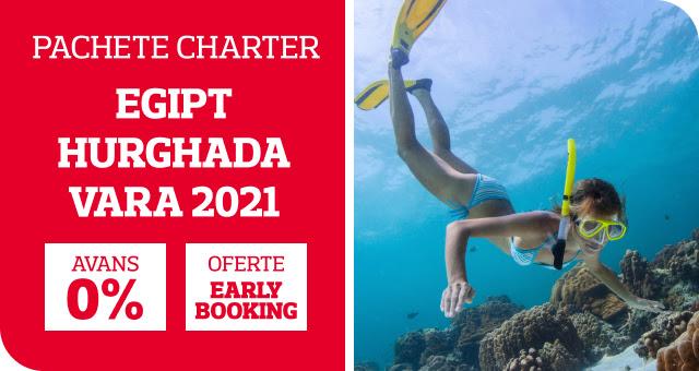 Charter Hurghada - Sezonul 2021: 0 avans si 0 penalizari! Oferte Early Booking pana la -25%!