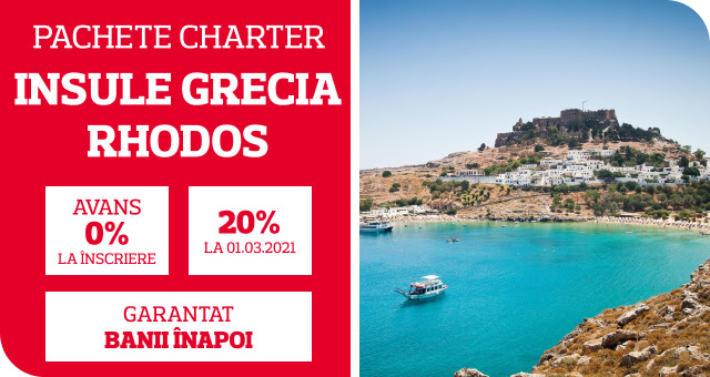 Reduceri Early Booking Insula Rhodos - Chartere vara 2021