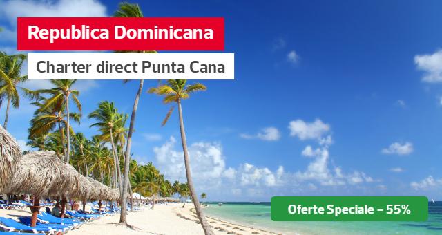Punta Cana - Chartere directe din Bucuresti: Reduceri speciale de pana la -55%!