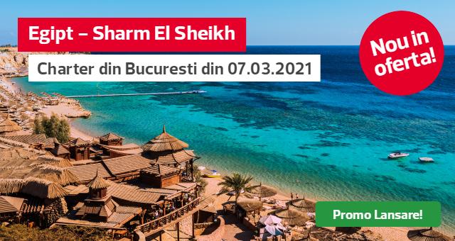 Charter Sharm El Sheikh - plecari din Bucuresti