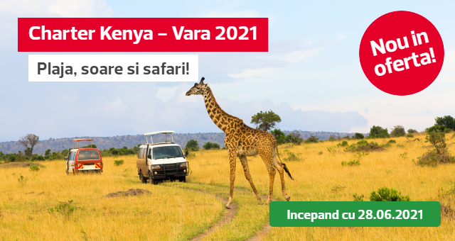 Kenya: Charter Mombasa - Vara 2021 - Soare, plaja si safari