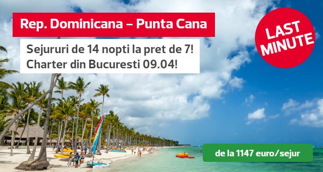 Republica Dominicana - Punta Cana: Super oferta - vacanta de 14 nopti la pret de 7