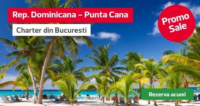 Republica Dominicana - Punta Cana: Noi chartere din 23.04! Reduceri pana la -50%!