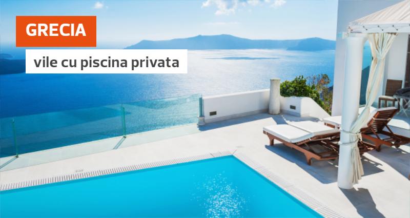 Vile de vacanta cu piscina privata in GRECIA