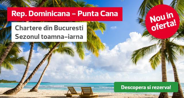 Republica Dominicana - Punta Cana: Lansare zboruri toamna-iarna 29.10.2021 - 04.02.2022!