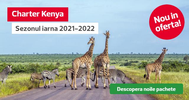 Vacanta in Kenya - Charter Mombasa: Plaja, soare si safari in iarna 2021 - 2022