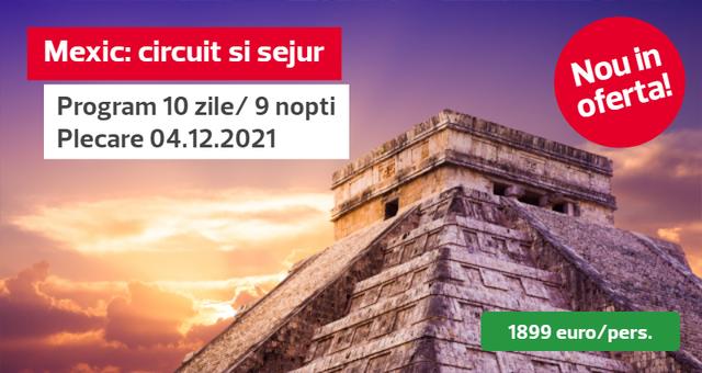 Circuit Mexic + Sejur in Cancun si Riviera Maya