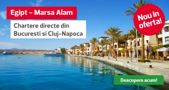 Egipt - Chartere Marsa Alam din Bucuresti si Cluj-Napoca pentru Sarbatorile de Iarna